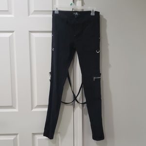 Goth/Emo Royal Bones Strap Pants